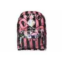 10-04-089S, Рюкзак, розовый/черный, 27x12x35, INDIGO STAR